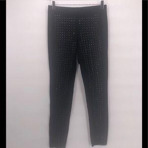 Express Black On Black Studded Leggings